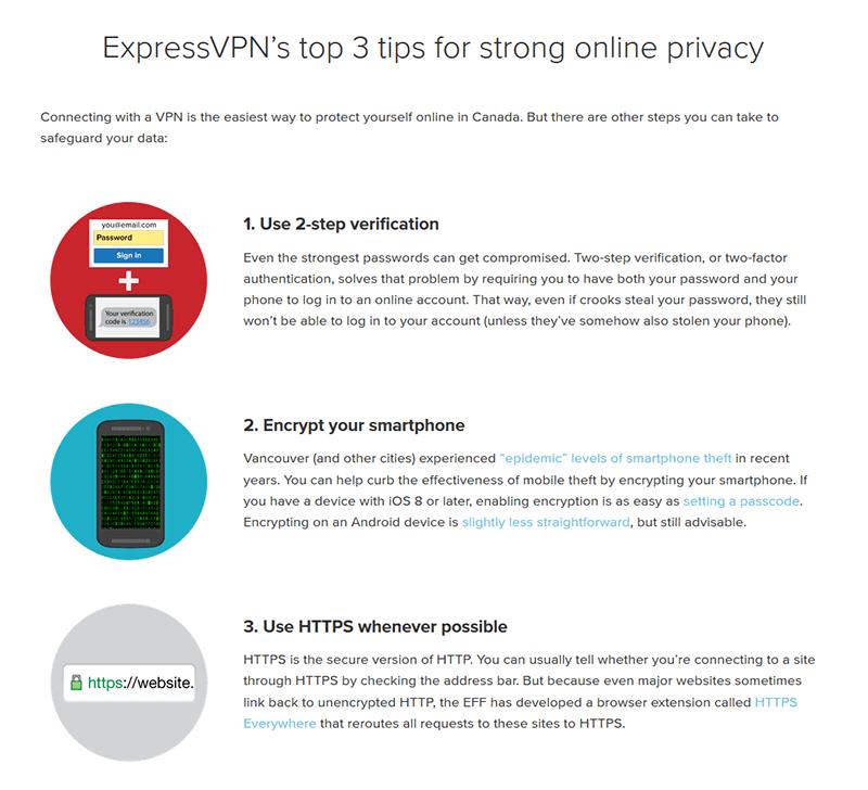 Safety online by ExpressVPN