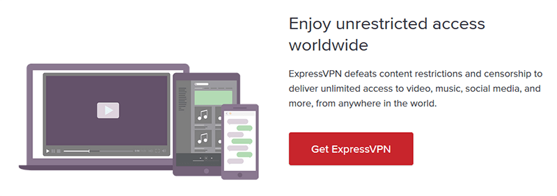 Unrestricted access with ExpressVPN