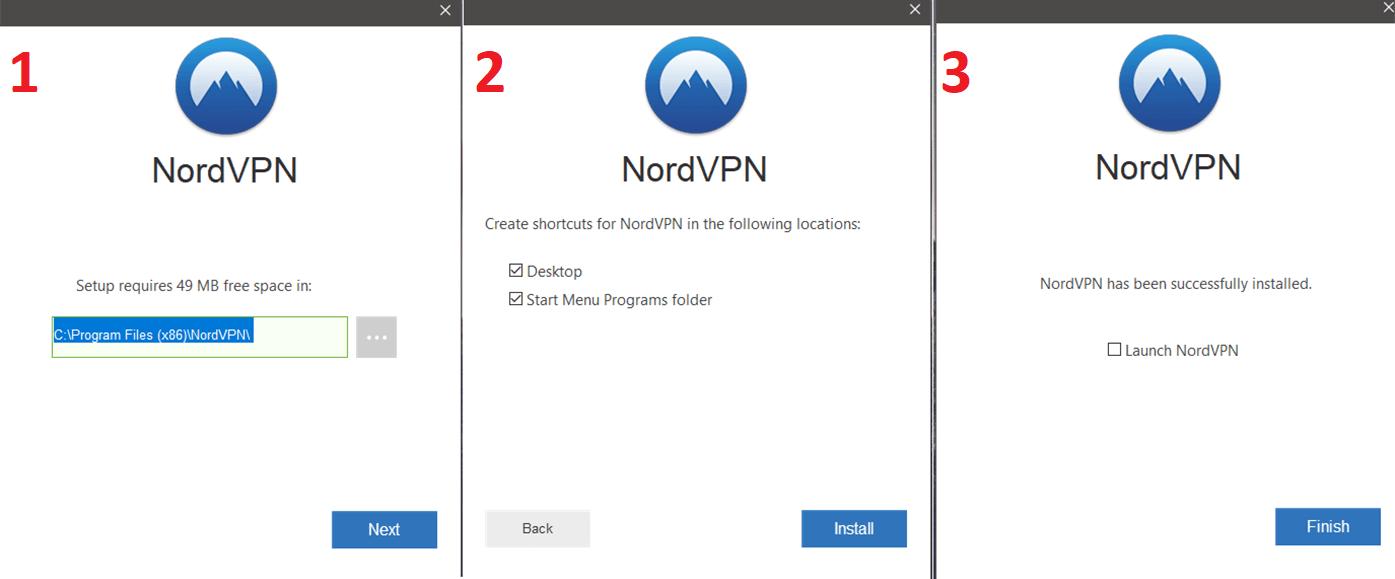 NordVPN Installation