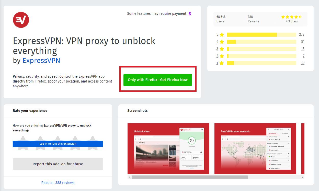 ExpressVPN Firefox Installation