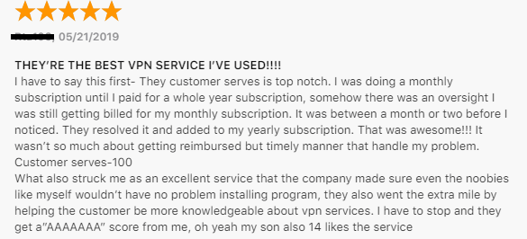 CyberGhost Apple Store Review
