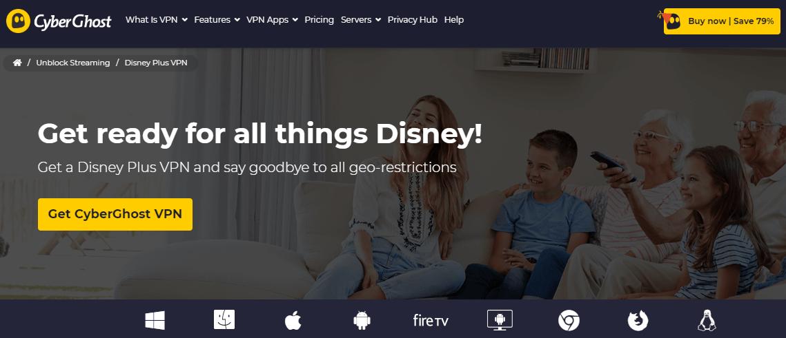 CyberGhost Disney+