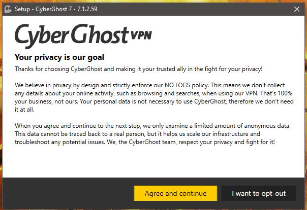 CyberGhost Installation 2