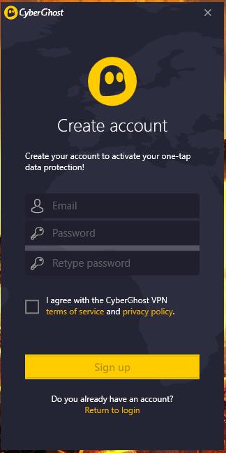 CyberGhost Login