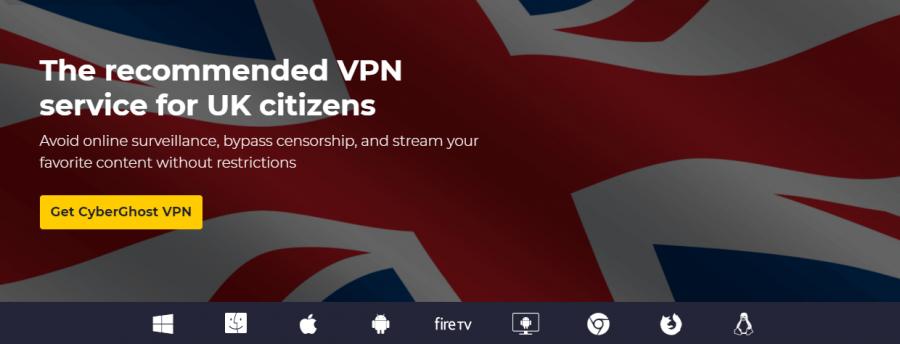 CyberGhost British TV