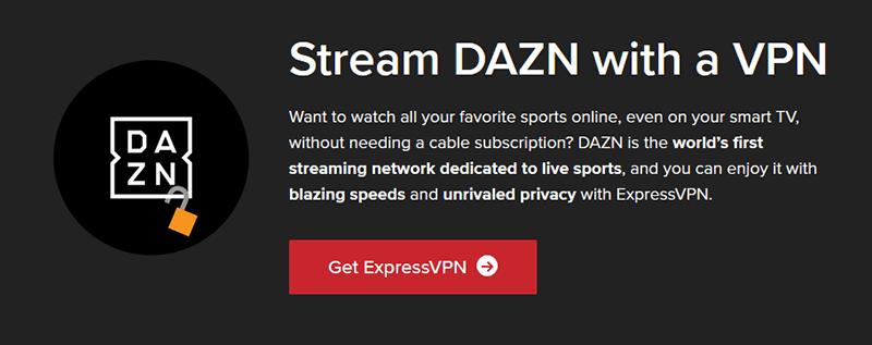 DAZN with ExpressVPN