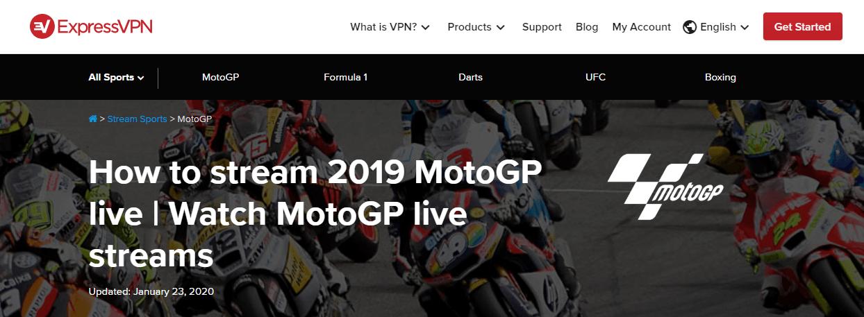 ExpressVPN MotoGP
