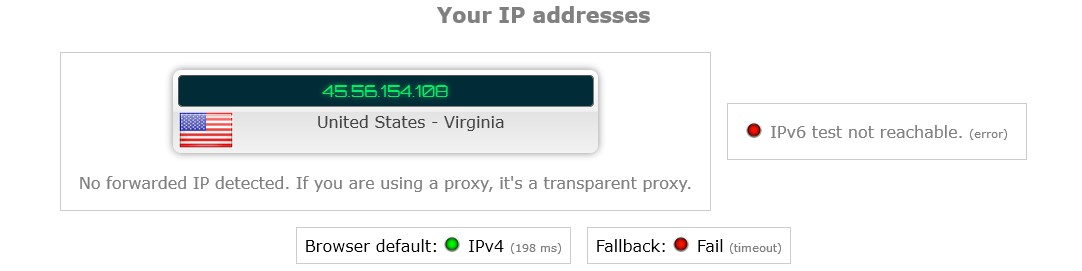 ExpressVPN masked IP address