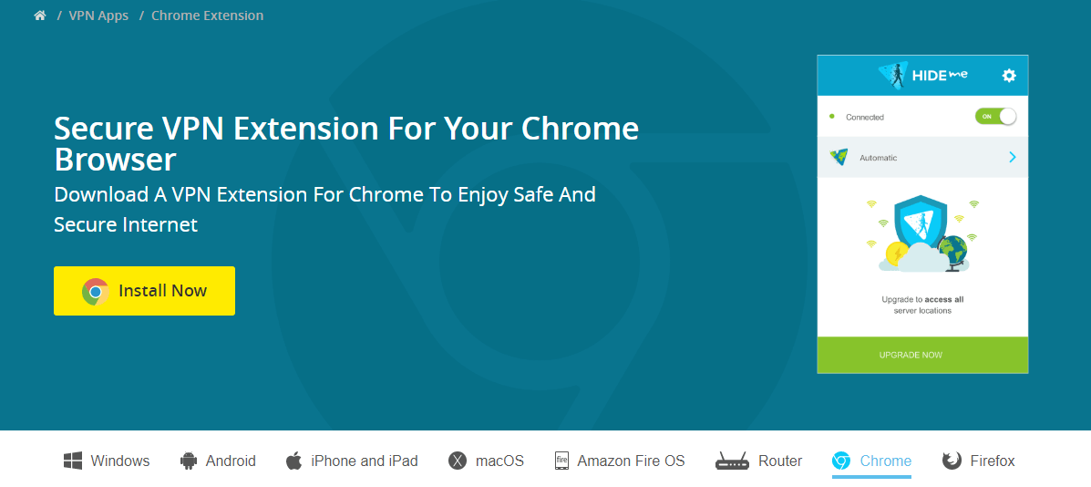 Hide.me Chrome