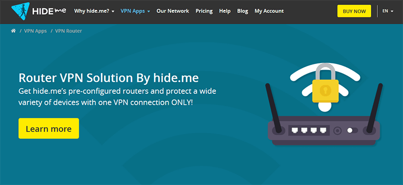 Hideme on router