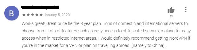 NordVPN Google Play Review