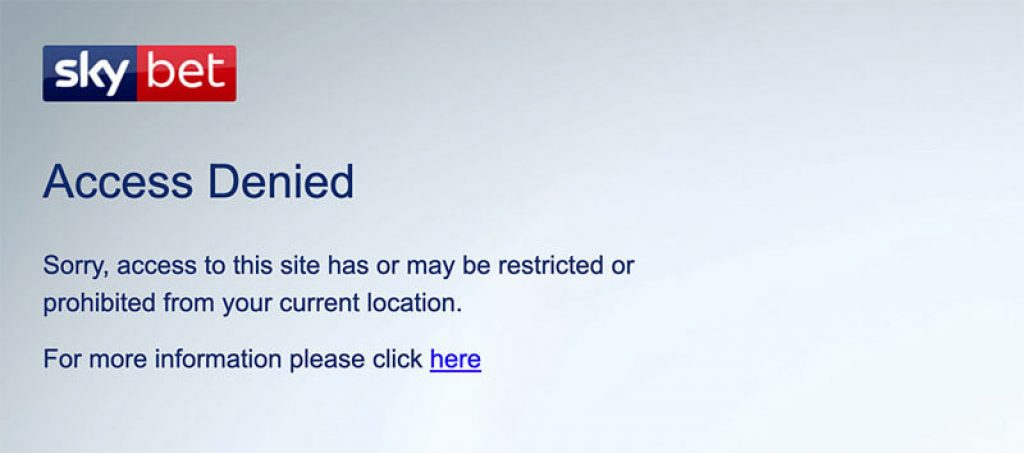 SkyBet restricted