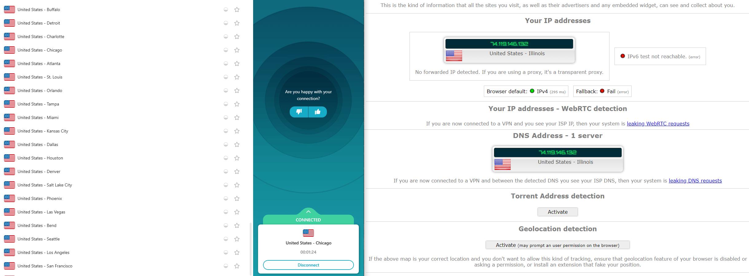 Surfshark IP Leak Test