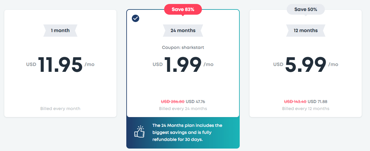 Surfshark Pricing