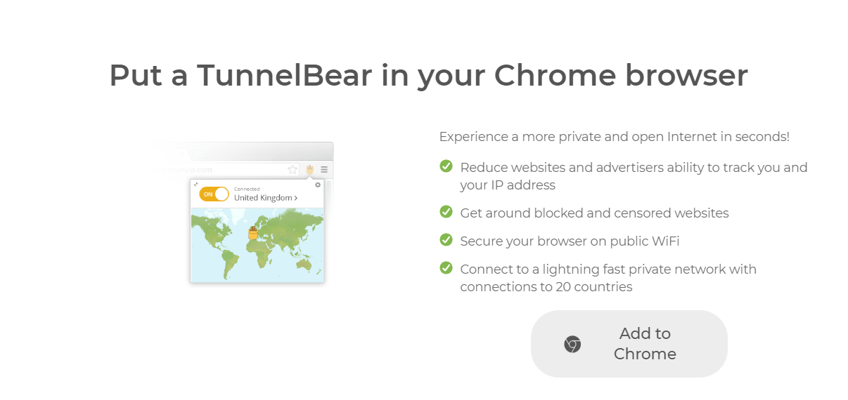 TunnelBear Chrome