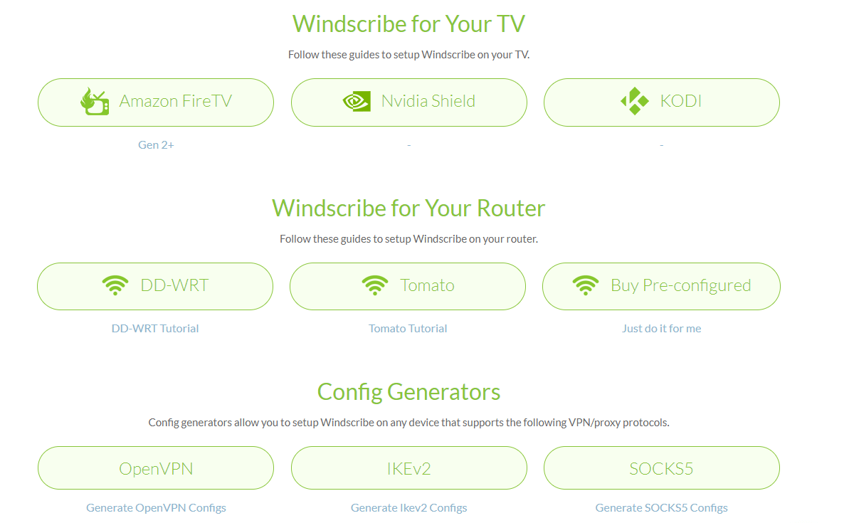 Windscribe Devices Supported 1