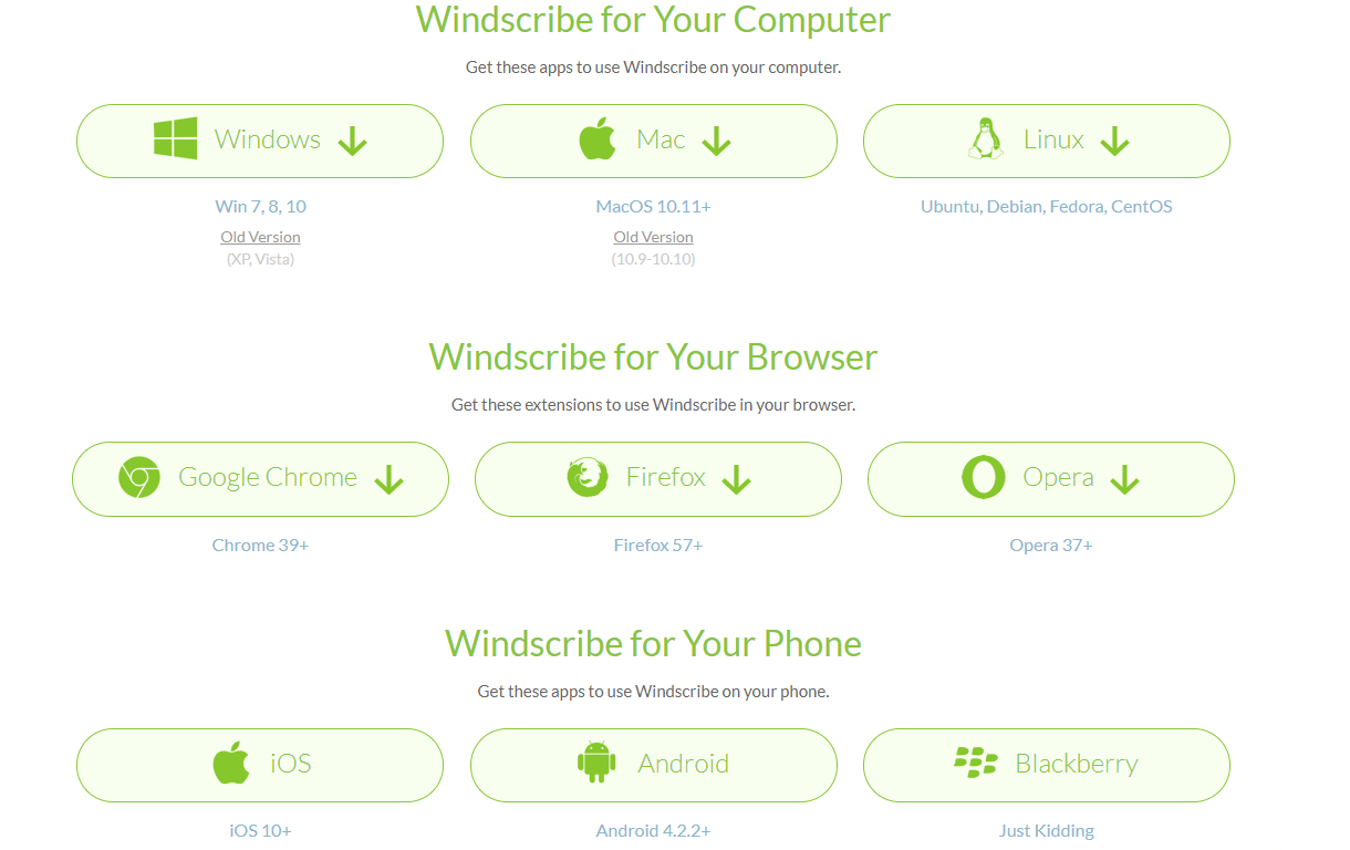 Windscribe Devices Supported