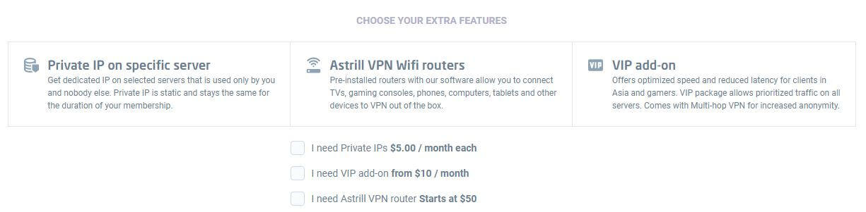 Astrill VPN Special Features