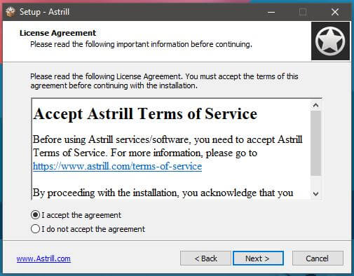 Astrill VPN Windows Setup 1