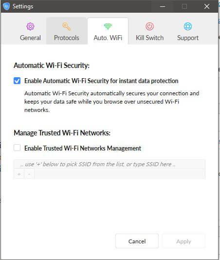 SaferVPN Wi-Fi Security