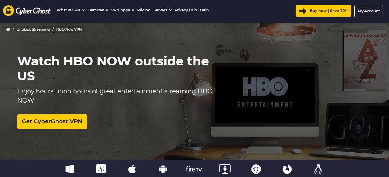 CyberGhost HBO GO