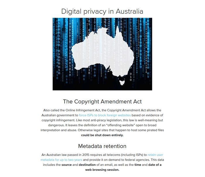 Digital privacy Australia