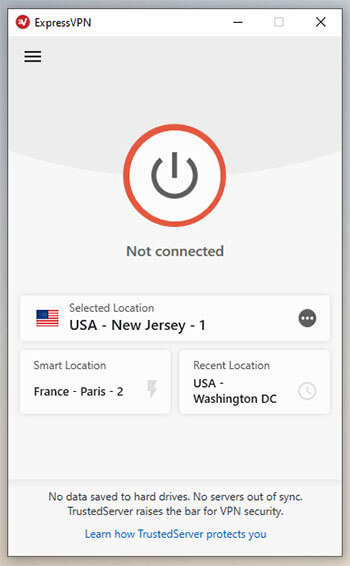 ExpressVPN app not connected