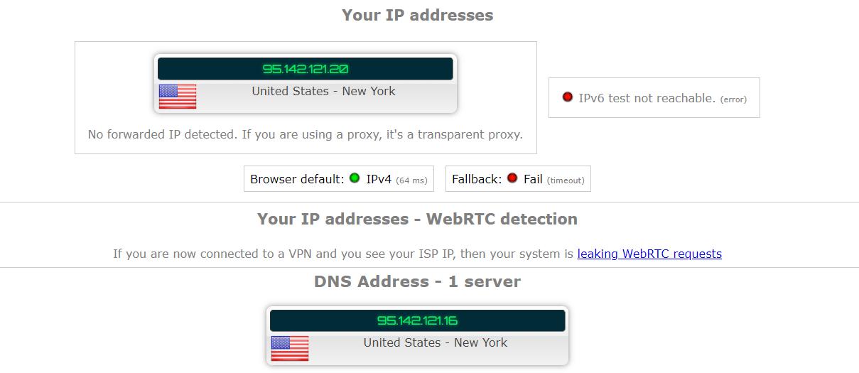 HMA IP Leak Test