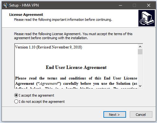 HMA Windows Setup 1
