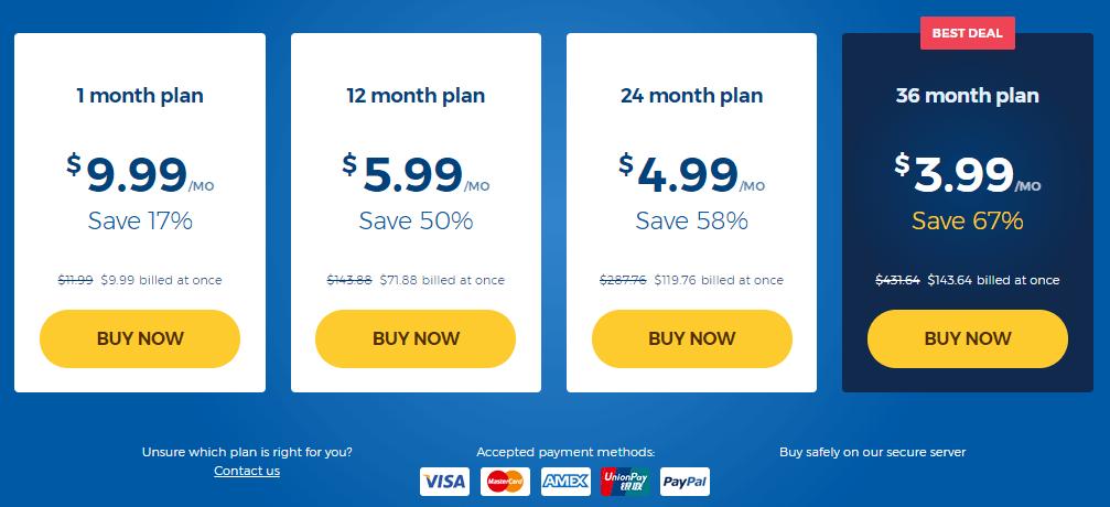HideMyAss Pricing