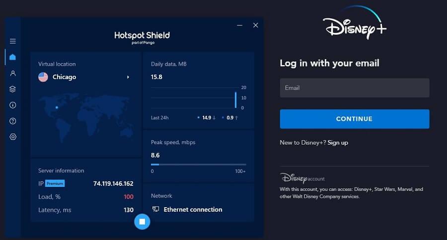 Hotspot Shield Disney+