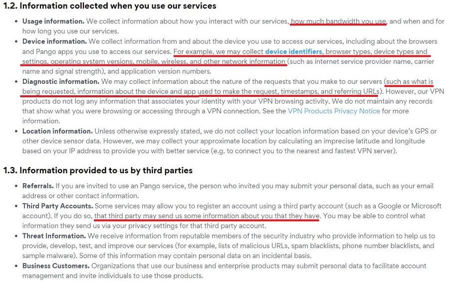 Hotspot Shield privacy policy