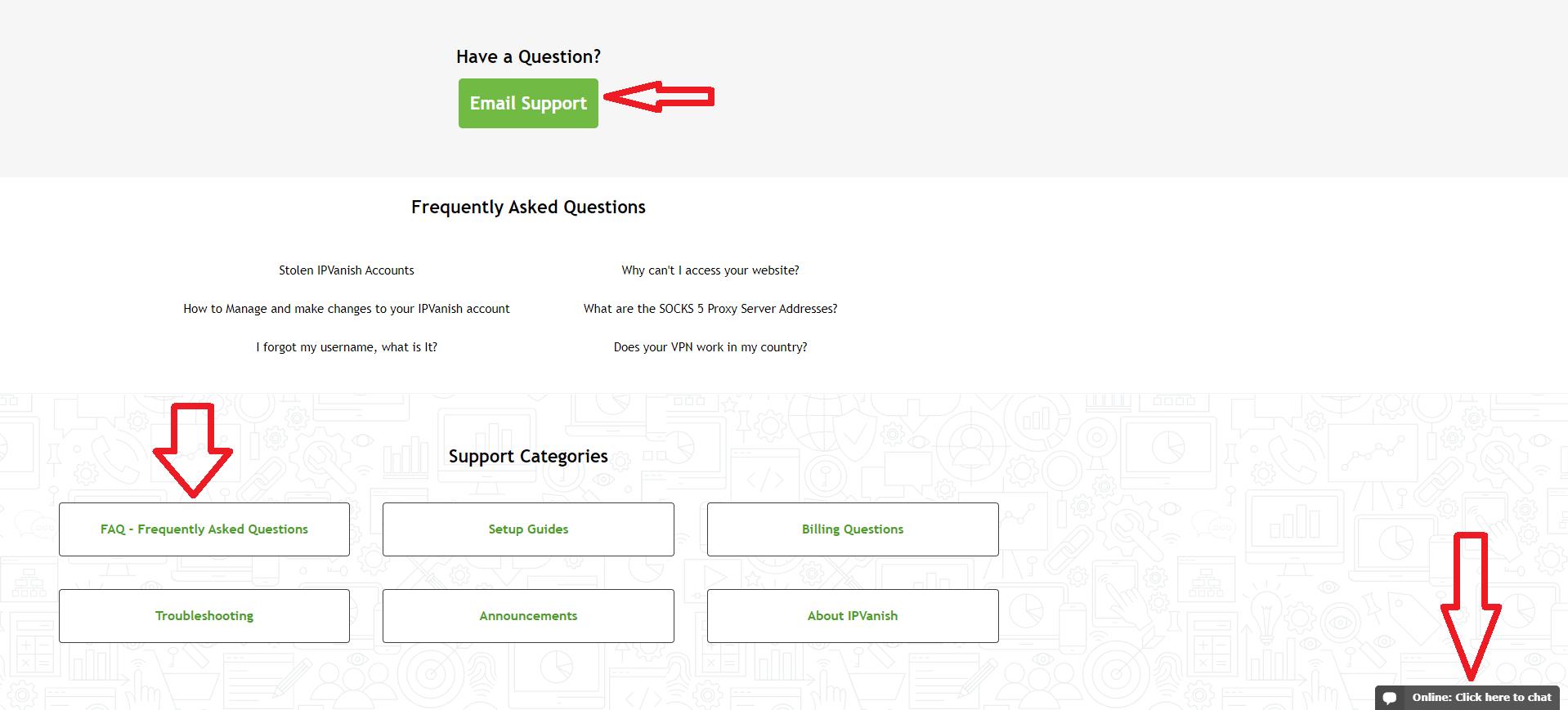 IPVanish Contacting