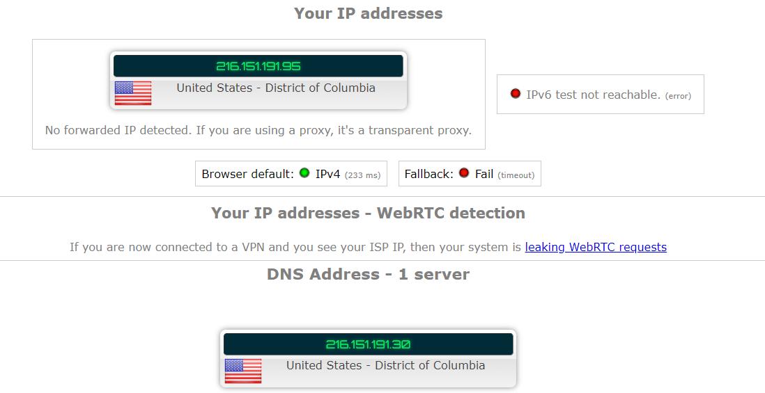 IPVanish Leak Test