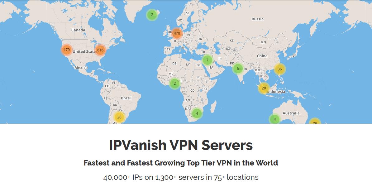 IPVanish Server Count