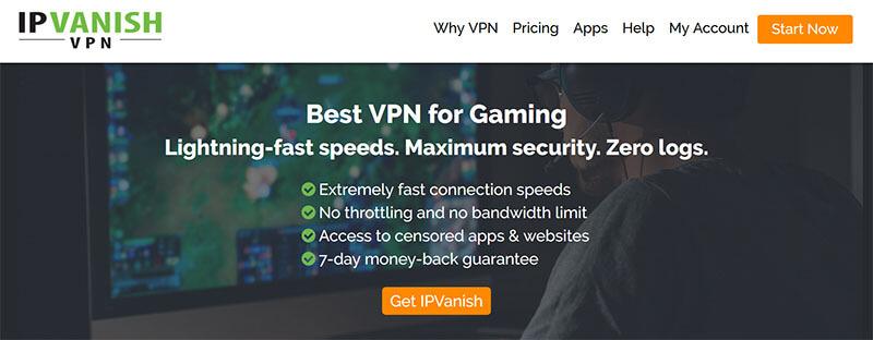 IPVanish for gaming