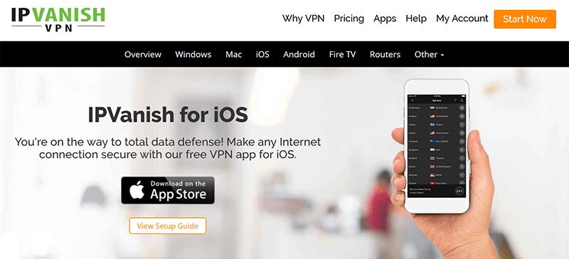 IPVanish iOS and iPad