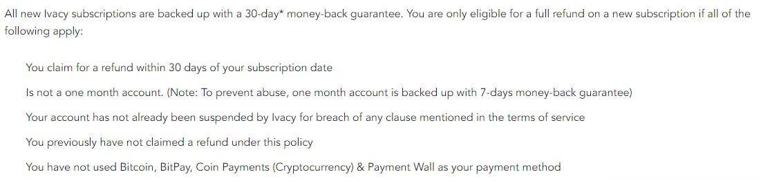 Ivacy Refund