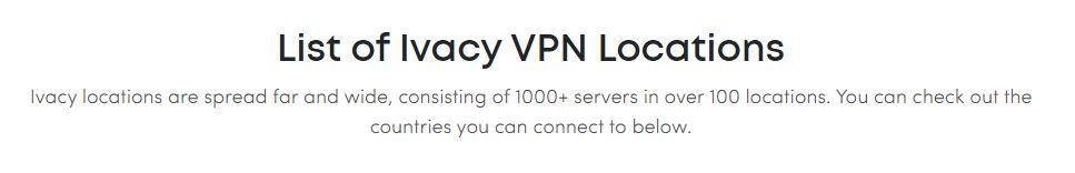 Ivacy Servers