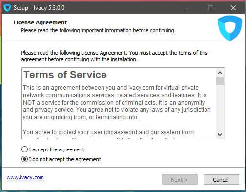 Ivacy Windows Setup 1