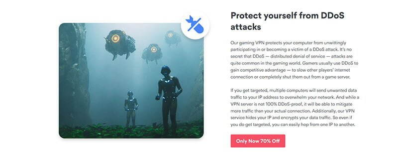 NordVPN protection against DDOS attacks