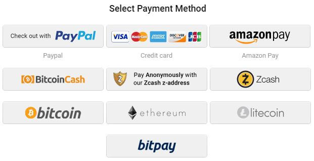 PIA Payment Methods
