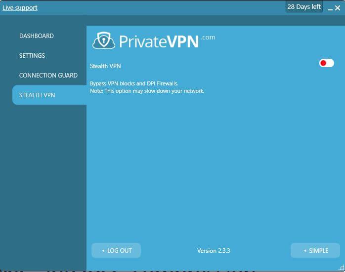 PrivateVPN Stealth VPN