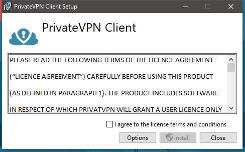 PrivateVPN Windows Installation 1