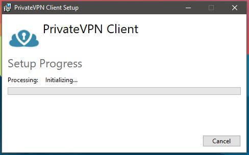 PrivateVPN Windows Installation 2