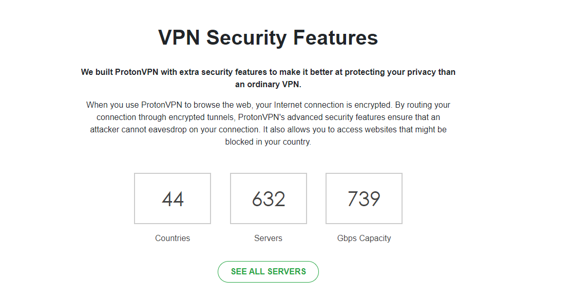 ProtonVPN Server Count