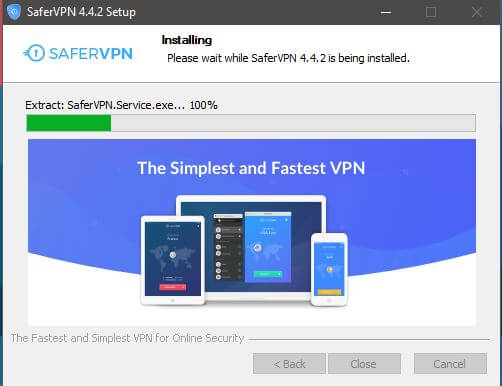 SaferVPN Windows Setup 3