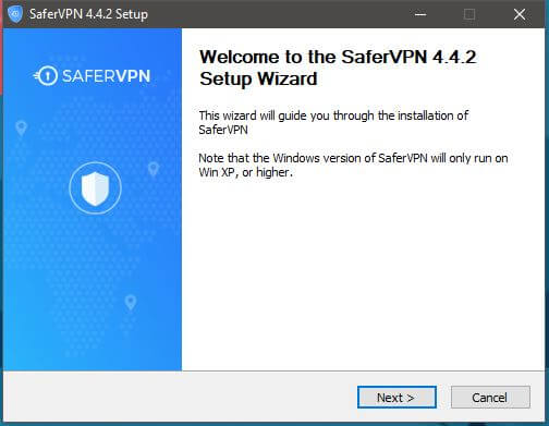 SaferVPN Windows setup 1