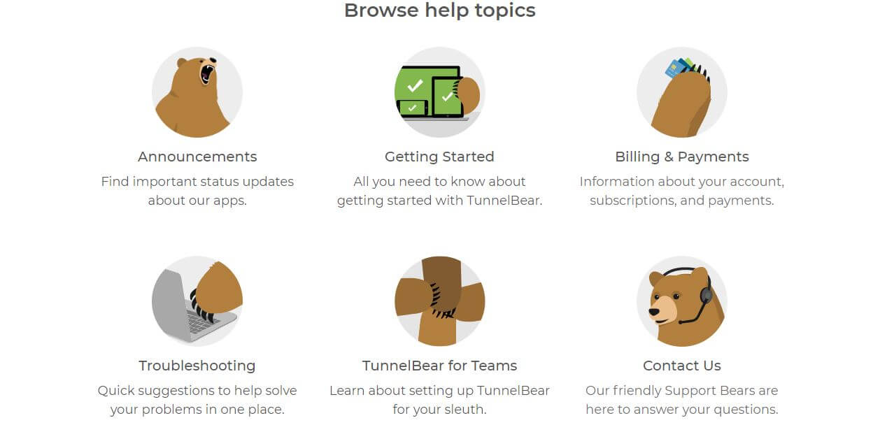 TunnelBear Help