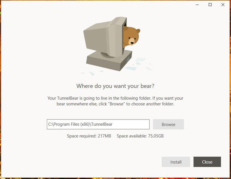 TunnelBear Windows Setup 1